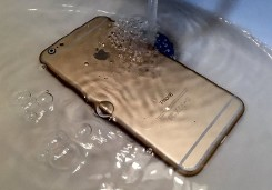 Phone Submerged in Water