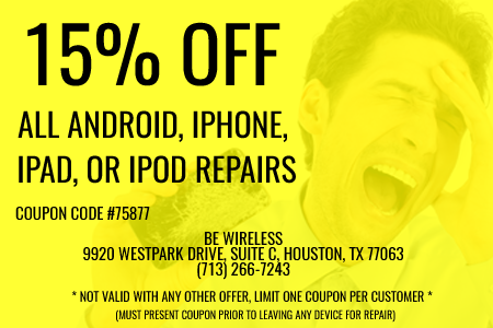 15% Off All Android, iPhone, iPads or iPod Repairs